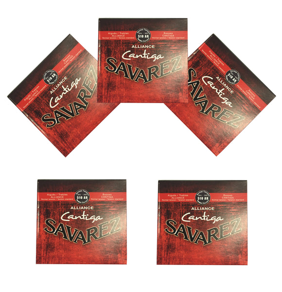 Savarez Guitar Strings 5-Packs Nylon Alliance Cantiga Normal Tension 510AR