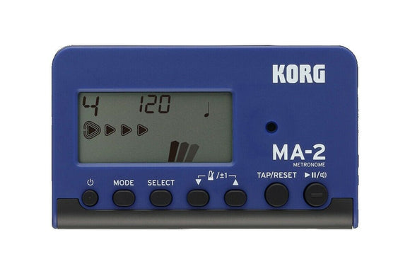 Korg Metronome MA-2 Blue and Black MA-2BL Newest Version