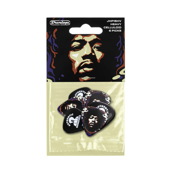Dunlop Jimi Hendrix Guitar Picks Star Haze 6 Picks Heavy .96mm.
