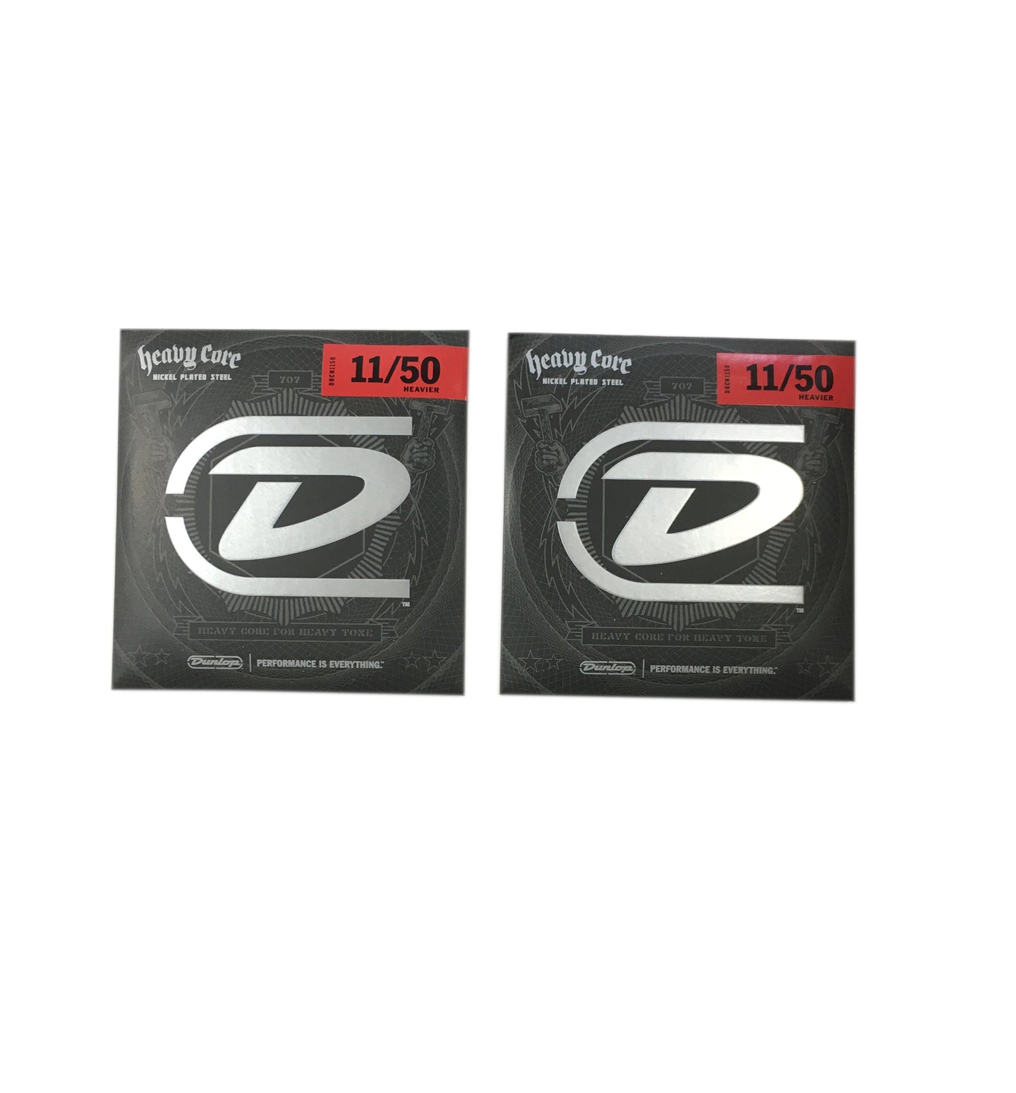Jim Dunlop Guitar Strings 2-Pack Electric Heavy Core 11-50 Heavier.