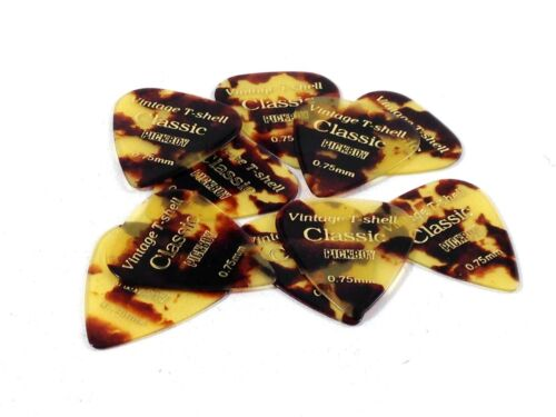 Pickboy Guitar Picks  Shell  Celluloid  .75mm  Medium  10 Pack