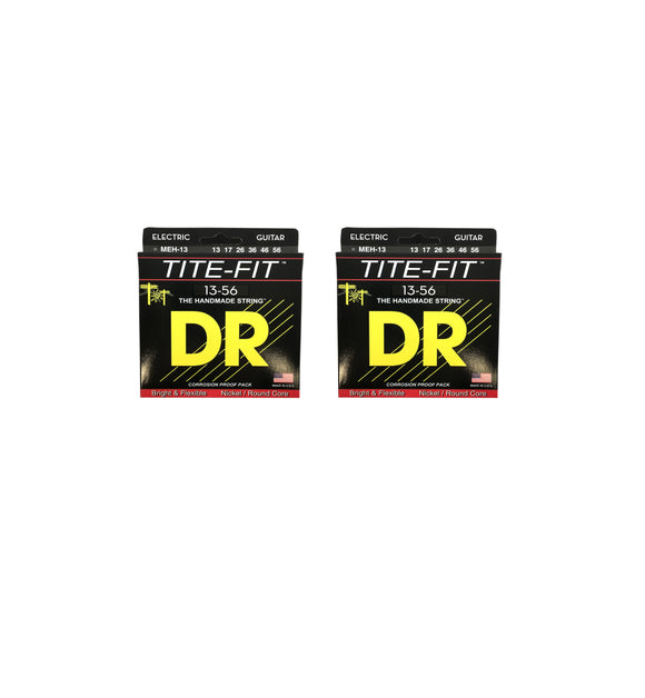 DR Guitar Strings 2-Pack Electric Tite-Fit 13-56 Mega Heavy Handmade USA