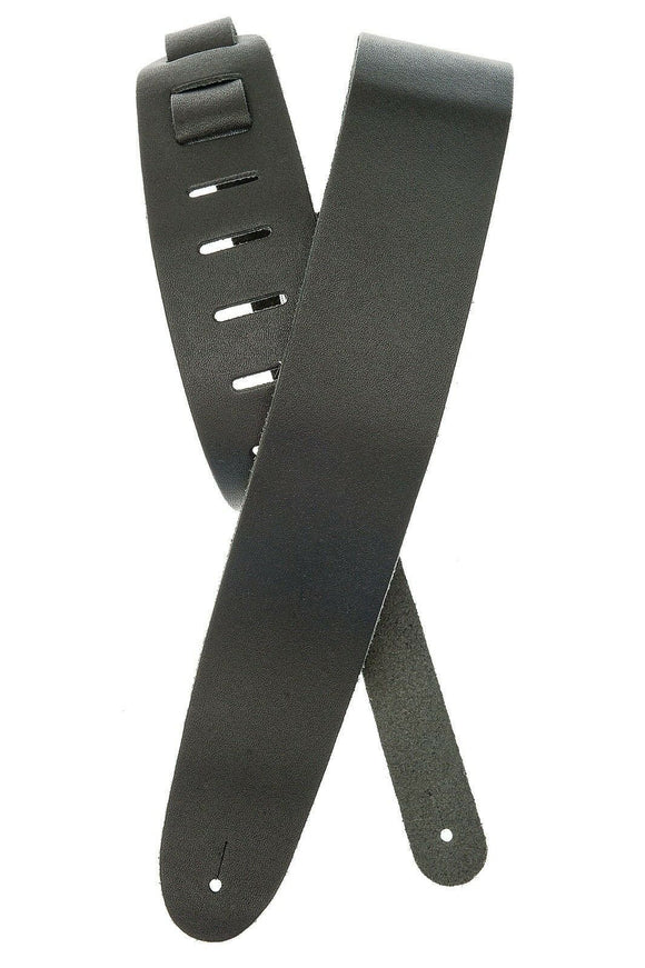 D'Addario - Planet Waves Leather Guitar Strap  Black  2.5