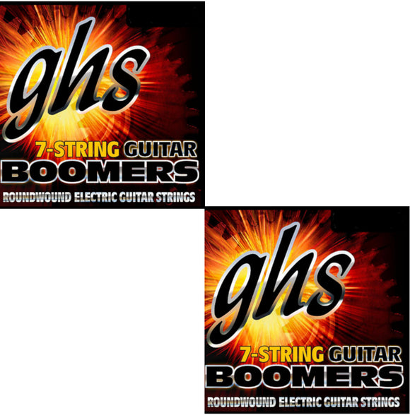 GHS Boomers Guitar Strings 2-Pack  7-String Roundwound Electric Custom Light 9-62