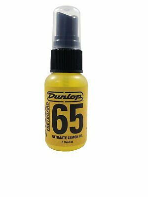 Dunlop Guitar Bass Fingerboard Cleaning Lemon Oil 1oz Spray Bottle.