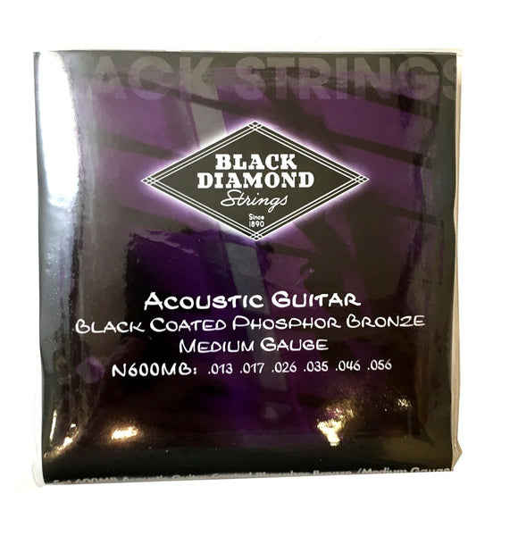 Black Diamond Guitar Strings Acoustic Medium Black Coated 13-56
