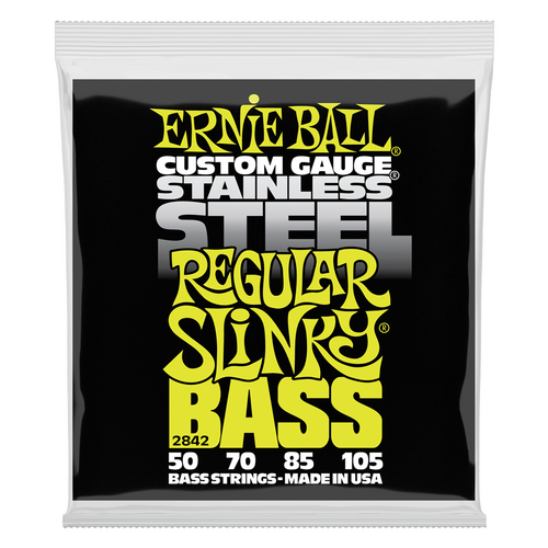 Ernie Ball Bass Guitar Strings Stainless Steel Slinky 2842 50-105.
