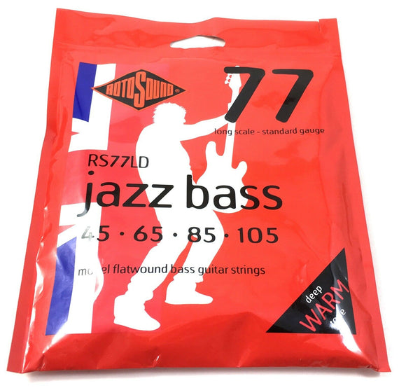 RotoSound Bass Guitar String Jazz Bass RS77LD Monel Flatwound 45-65-85-105
