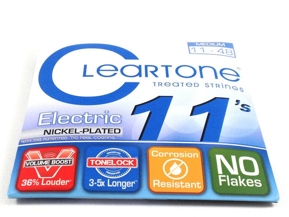 Cleartone Guitar Strings  Electric  Nickel Plated Medium 11-48  Super long life