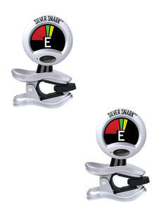 Snark Tuner Silver Snark 2-Pack Tunes All Instruments  Pitch Calibration Rubber Joints.
