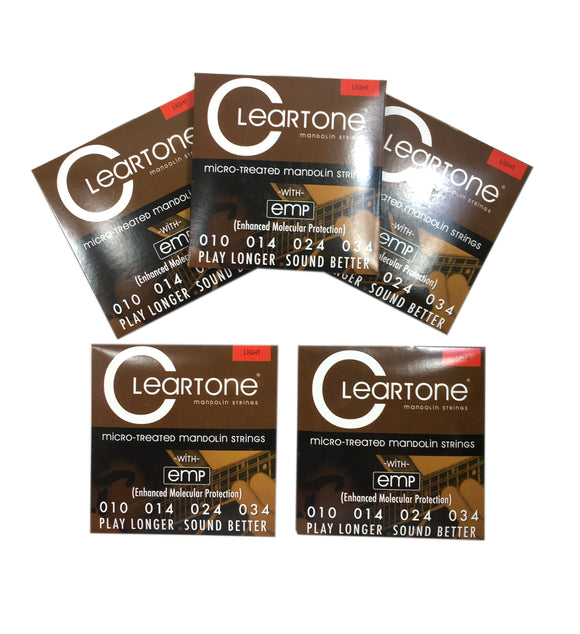 Cleartone Mandolin Strings 5 Pack EMP Coated Light .010-.034.