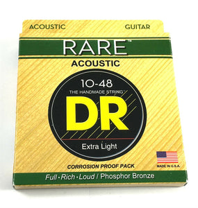 DR Guitar Strings  Acoustic RARE Phosphor Bronze Hex Cores RPL-10 10-48