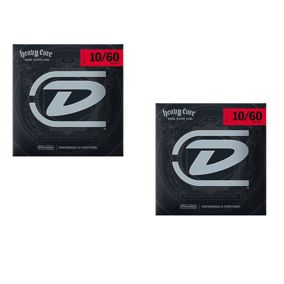 Dunlop Guitar Strings 2-Pack Electric  Heavy Core   10-60