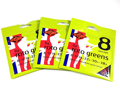 Rotosound  Guitar Strings 3 Pack Electric Extra LIght 8-38