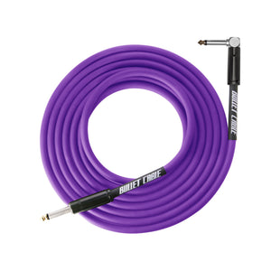 Bullet Cable Instrument Cable Thunder Purple Angled End 10' (~3m).
