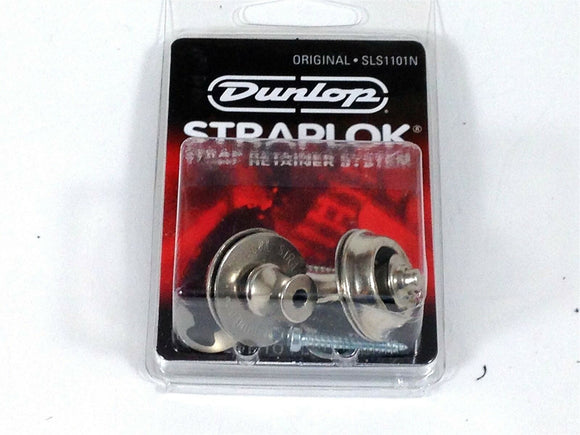 Dunlop Strap Locks - Guitar -Original Slim Button Strap Retainer System Nickel