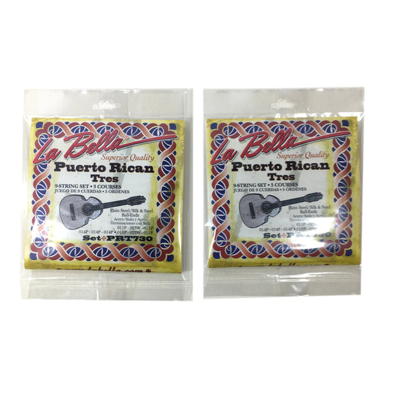 La Bella Silk and Steel Puerto Rican Tres Strings 2-Pack.