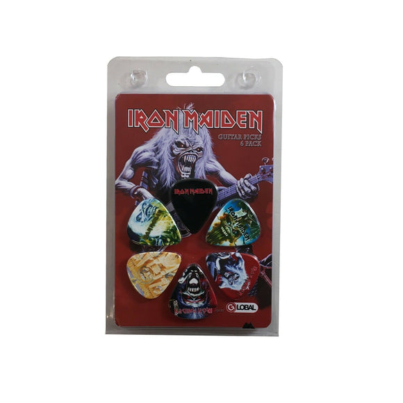 Iron Maiden Guitar Picks 6 Picks Albums Set 2.