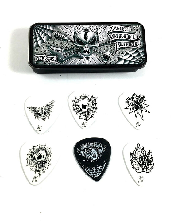 Dunlop James Hetfield (Metallica) Pick Tin 6 Picks With Dirty Donny Art .88mm.