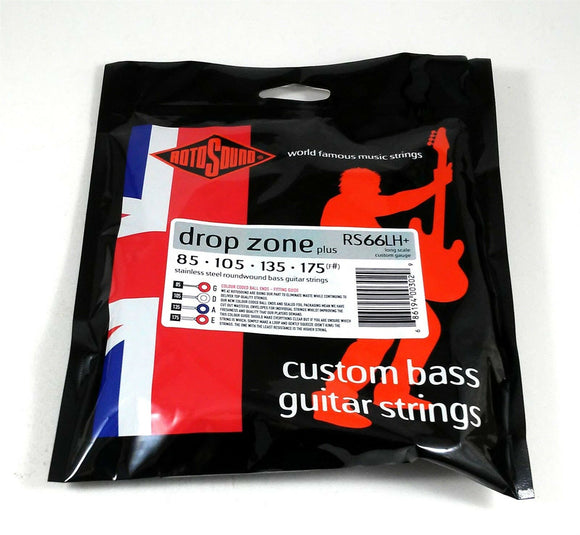 RotoSound Bass Guitar String Swing Bass RS66LH+ Drop Zone plus 85-175 F#.