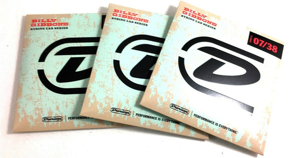 Dunlop Billy Gibbons Electric Guitar Strings - 3 Sets  07-38 (form Rev Willy).