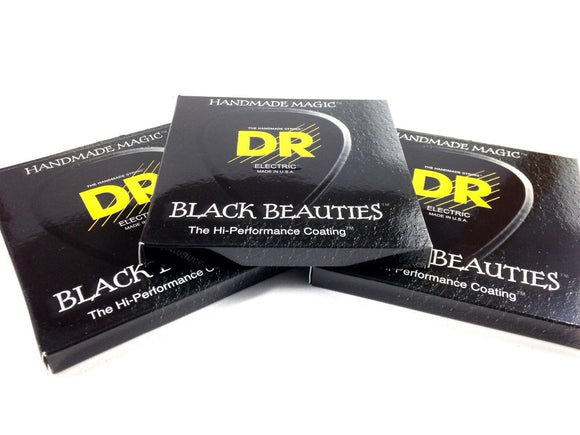 DR Guitar Strings Electric K3 Black Beauties High Performance 3 Packs 12-52