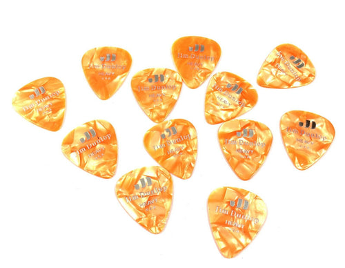 Dunlop Guitar Picks  12 Pack  Celluloid  Orange Pearloid  Heavy .94mm.