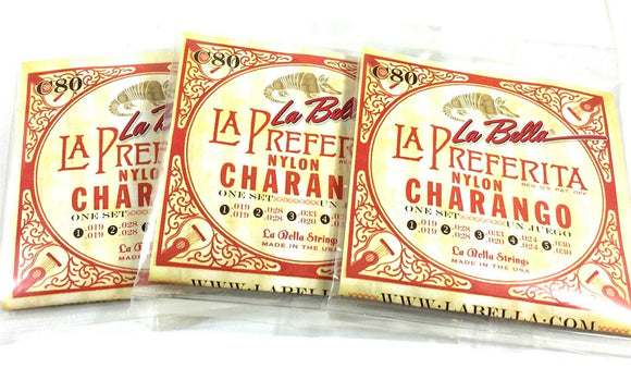 Charango Cuerdas String 3 Sets Tres Juegos - La Bella 5 double String Set Nylon.