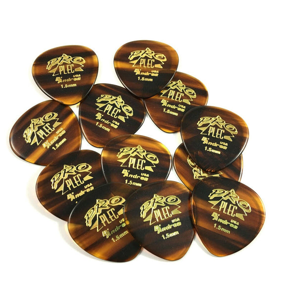 D'Andrea Mandolin Picks 12 Pack Rounded Triangle Guitar Picks 1.5mm Pro-Plec.