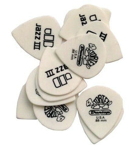 Dunlop Guitar Picks  12 Pack  Tortex White   Jazz III Size  .88mm  478P.88.