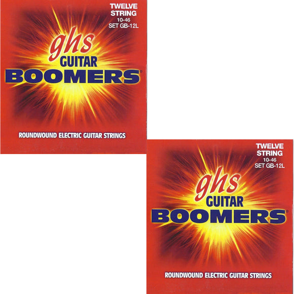 GHS Boomers Guitar Strings 2-Pack 12-String Electric Light Roundwound 10-46