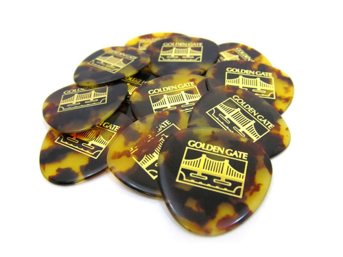 Golden Gate Mandolin Picks 12 Pack Guitar Picks Flat Picks Shell 1.3mm.