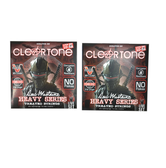 Cleartone Guitar Strings 2-Pack Electric Dave Mustaine Signature Custom Live Set 10-52