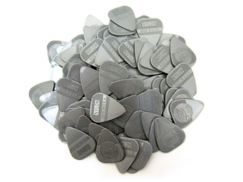 Herco Guitar Picks  Nylon Flex  Silver Flex 75  .75mm  Dunlop  100 Pack