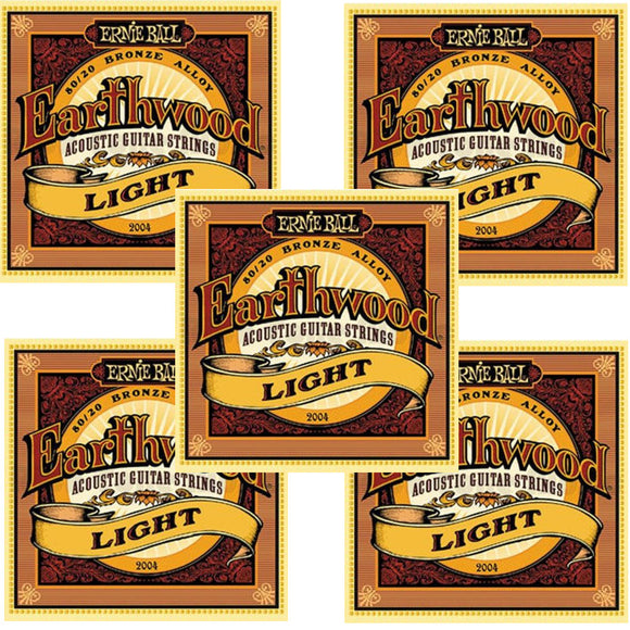 Ernie Ball Guitar Strings 5-Pack Acoustic Earthwood Light 11-52 2004