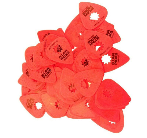 Everly Star Guitar Picks .50mm 72 Pack Super Grip Red.