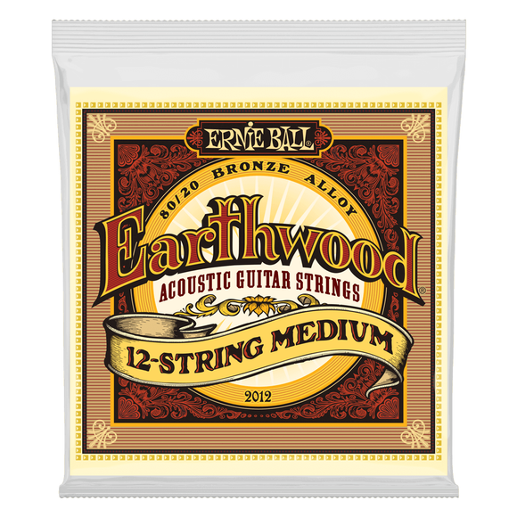 Ernie Ball Guitar Strings 12-String Acoustic Earthwood Medium 2012