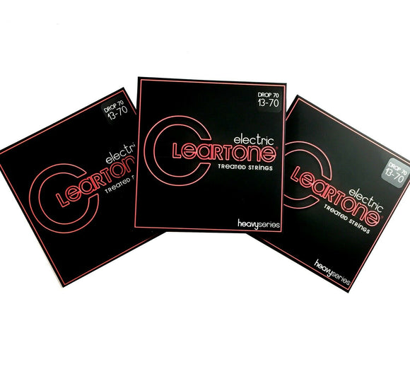 Cleartone Guitar Strings Electric 3 Pack Monster Drop C 13-70 Super long life