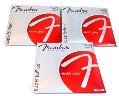 Fender Guitar Strings  Electric  Super Bullets  Nickel Steel  10-46