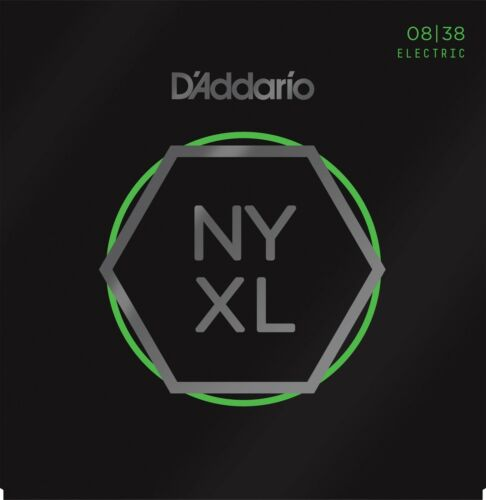 D'Addario Guitar Strings  NYXL 0838  Electric   Light Gauge 08-38