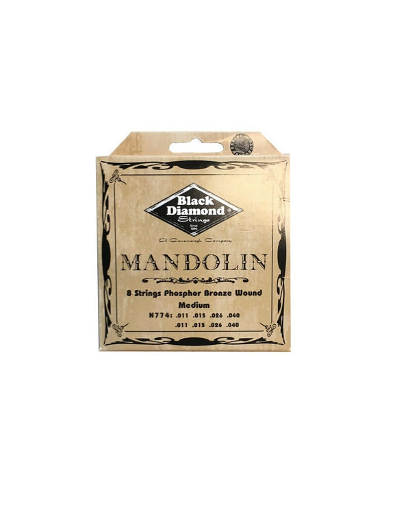 Black Diamond Mandolin Strings Phosphor Bronze Loop End .011-.040.