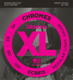 D'Addario Bass Strings Chromes  Light Flat Wound  ECB81S  Short Scale.