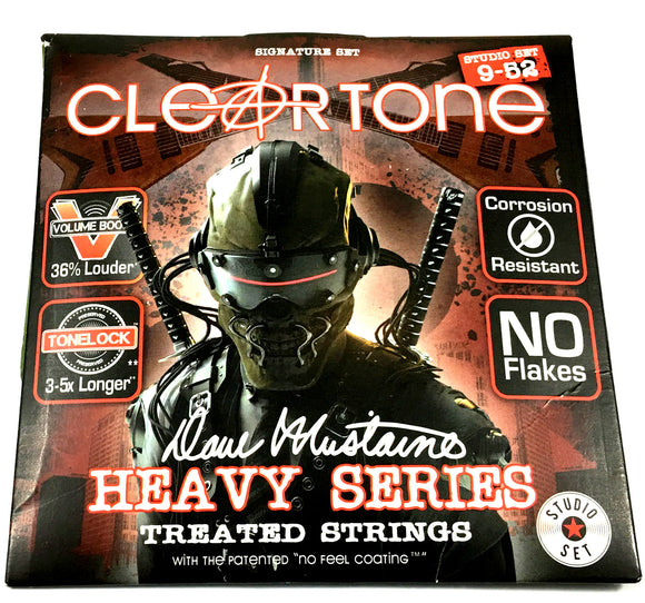 Cleartone Guitar Strings Electric Dave Mustaine Signature Custom Studio Set 09-52.