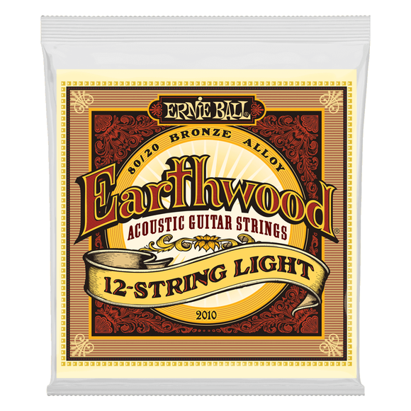 Ernie Ball Guitar Strings 12-String Acoustic Earthwood Light 2010