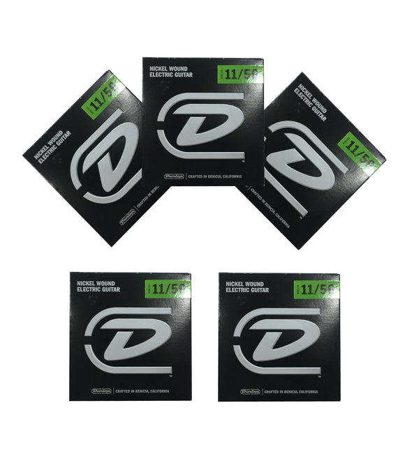 Dunlop Guitar Strings - Electric - 5 Pack - 11-50 - Nickel Plated Steel