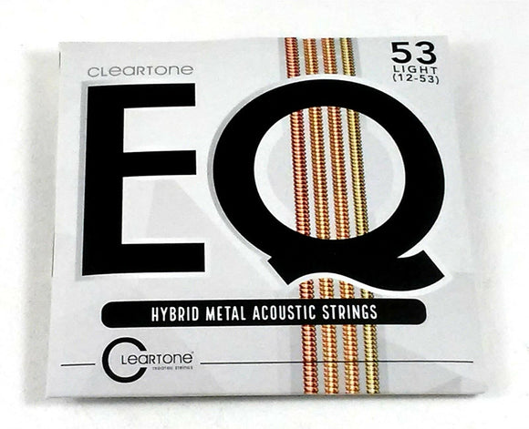Cleartone Guitar Strings EQ Acoustic Hybrid Metal Blend Light 12-53