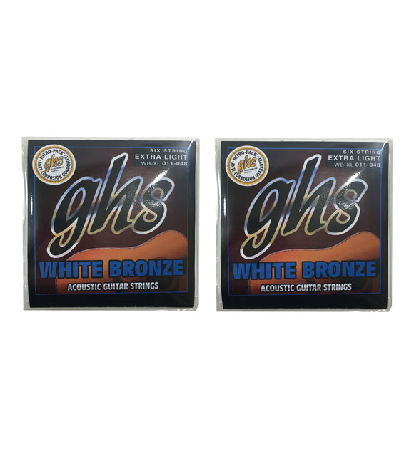 GHS Guitar Strings 2-Pack Acoustic White Bronze Extra Light 11-48