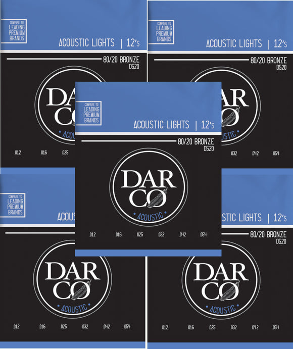Darco Martin Guitar Strings 5-Pack Acoustic Light 12-54.