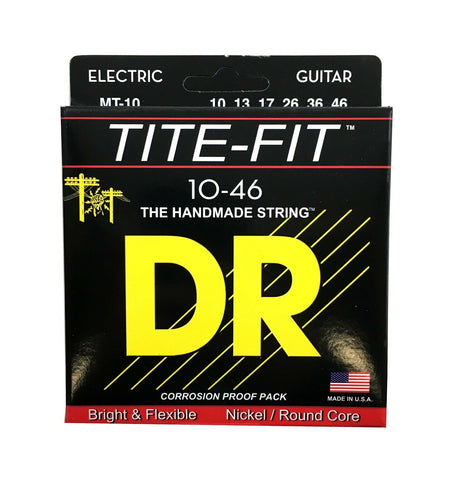 DR Guitar Strings Electric Tite-Fit 10-46 Medium Handmade USA.