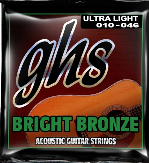 GHS Guitar Strings Acoustic Bright Bronze Ultra Light 10-46